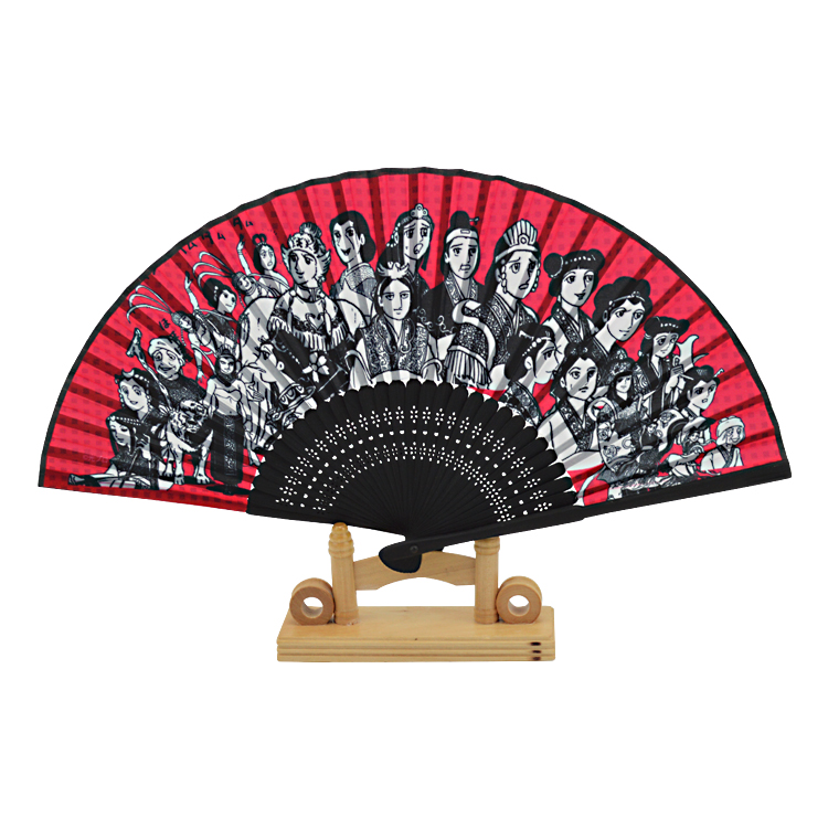 Custom advertising <strong>fan</strong> brand publicity Japanese cartoon bamboo handle folding <strong>fan</strong>
