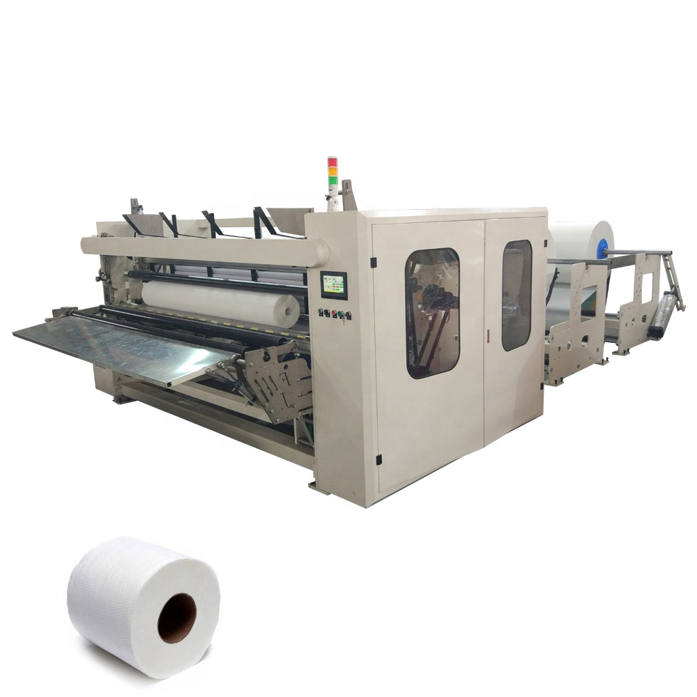 Automatic maxi roll toilet tissue paper making machine