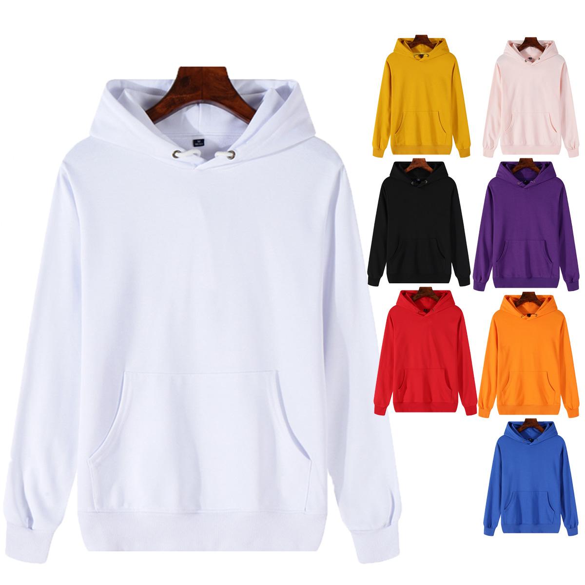 バルクポリエステルユニセックスホワイト厚いカスタムファッション男性卸売ブランクコットンパーカー