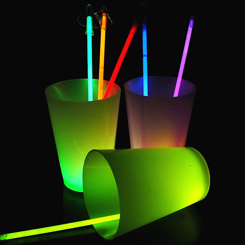 Event & party decoration fluorescent neon glow cup 12oz cup plastic glow drink cup in the dark bar wedding party use
