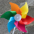 Custom Logo Printed Mini Kids Toy Windmills, Colorful Party Competition Venue Decoration Windmill