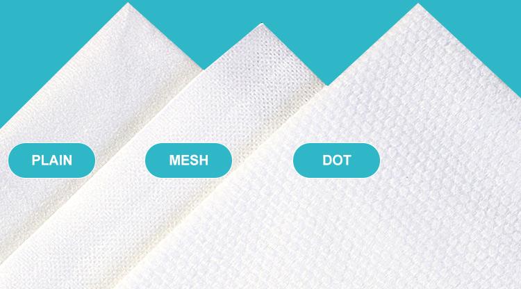 [फैक्टरी] हाइड्रोफिलिक विस्कोस spunlace nonwoven कपड़े, बच्चे गीले पोंछे कच्चे सामग्री (गैर बुना)