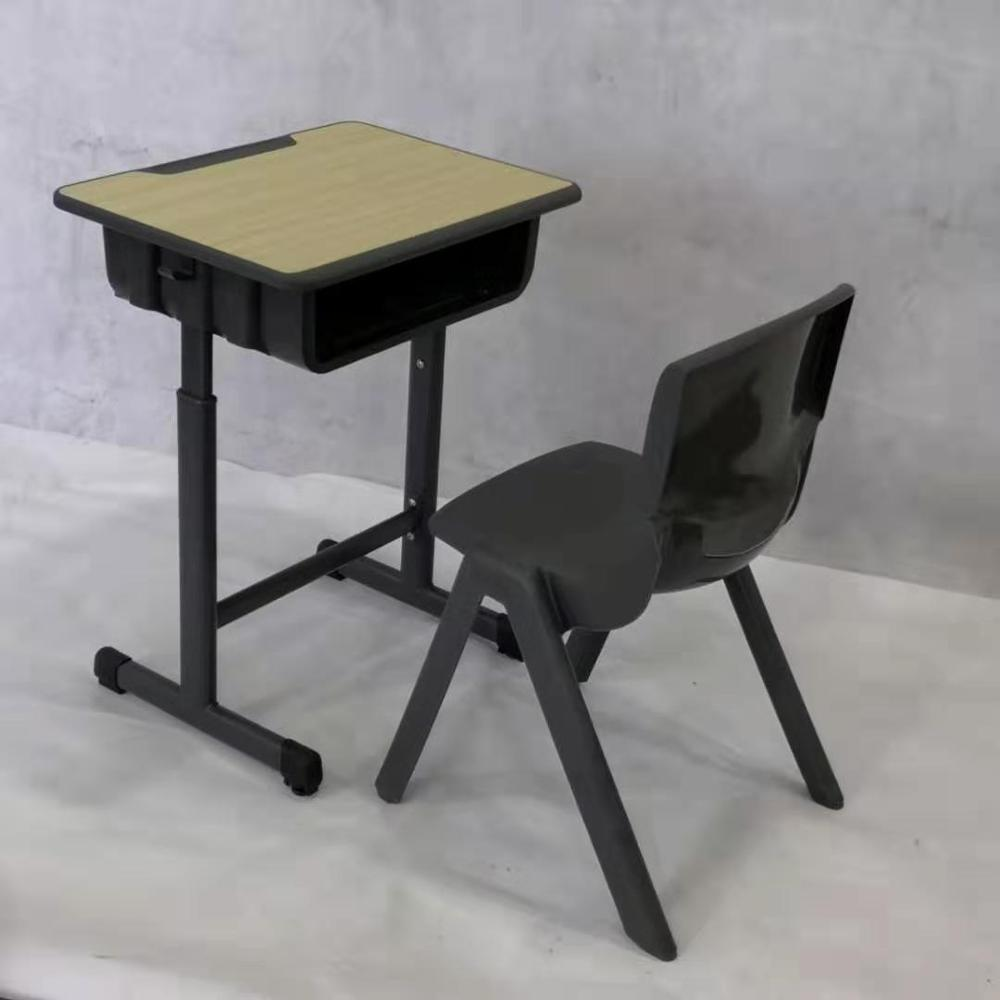 Hot Sales School Furniture Single Student Desk And Chairs