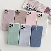 Premium Wildleder Material Design Leder Hybrid Grip Soft Cover Fall für iPhone 11, für iphone 11 leder wildleder fall telefon