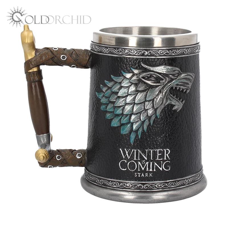 Uống bia ly Trò Chơi của Of Thrones Mùa Đông Đang Đến Nhựa thép không gỉ cốc cà phê