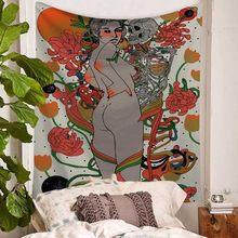 Psychedelic сцена сексуальная женщина гобелен тайные джунгли йога коврик Домашний Декор Коридор Спальня Гостиная настенный гобелены(Китай)