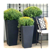 Custom Flower Pots Planters Outdoor Garden Large Flower Pot Decoration Metal Flower Pots
