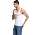 White Vest Custom Casual White Vest Men Sexy Short 100% Cotton Tank Tops