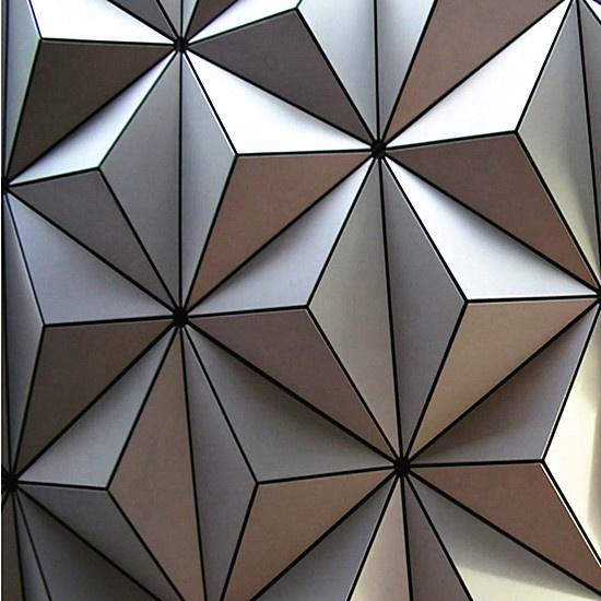 ACEBOND लोकप्रिय एल्यूमीनियम सजावटी दीवार cladding के लिए 3D एल्यूमीनियम ठोस पैनल परियोजना