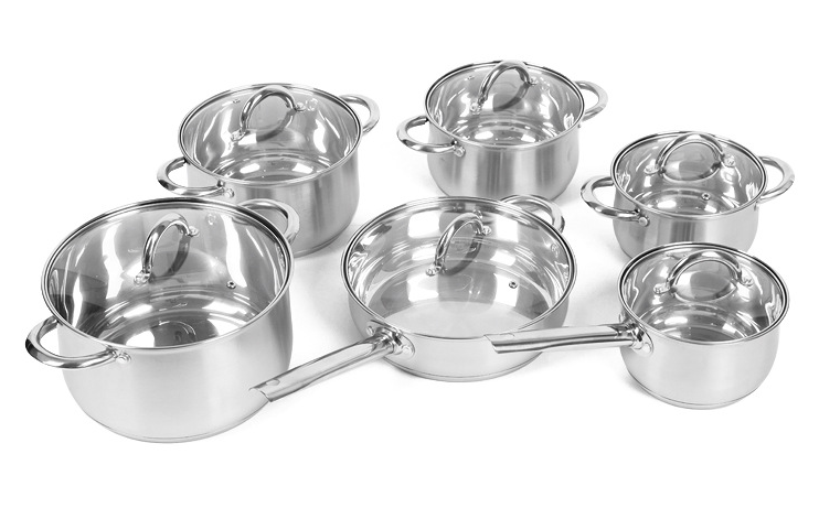 Stainless steel cooking pot set