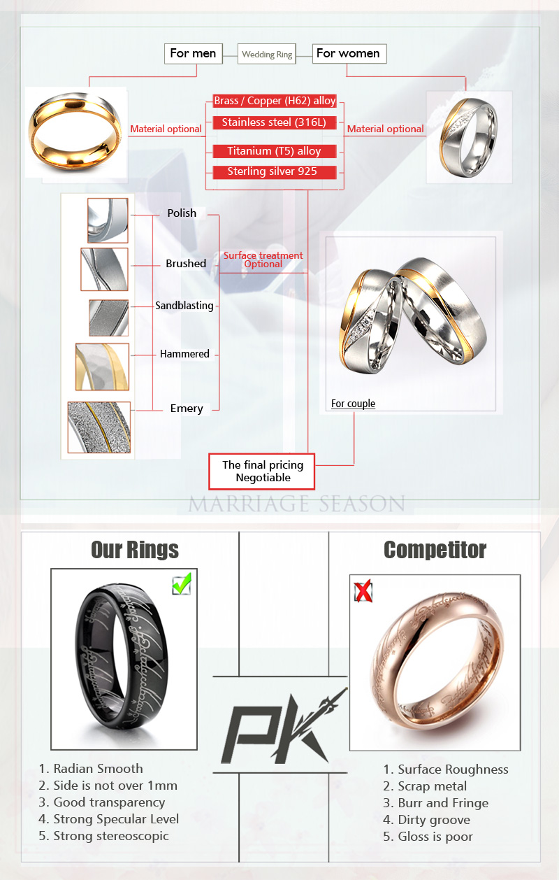 wholesale fashion bridal jewelry ring set for men and women wedding rings 4kt diamond in yellow gold with zubic zircon