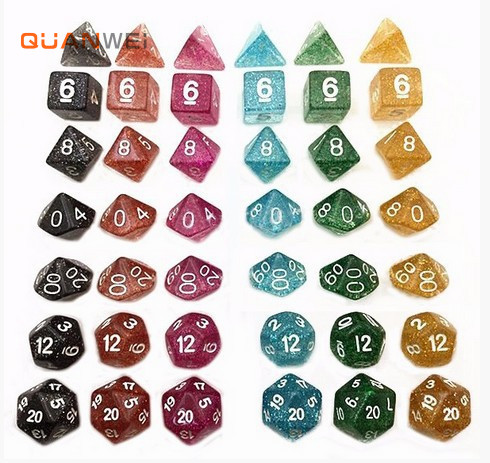 7 pieces seven dnd rpg game dices set for playing