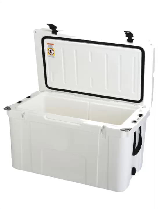 78 Quart custom plastic boat ice cooler box roto molded portable wheeled cooler