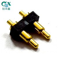 spring loaded custom male 2 pin pogo connector