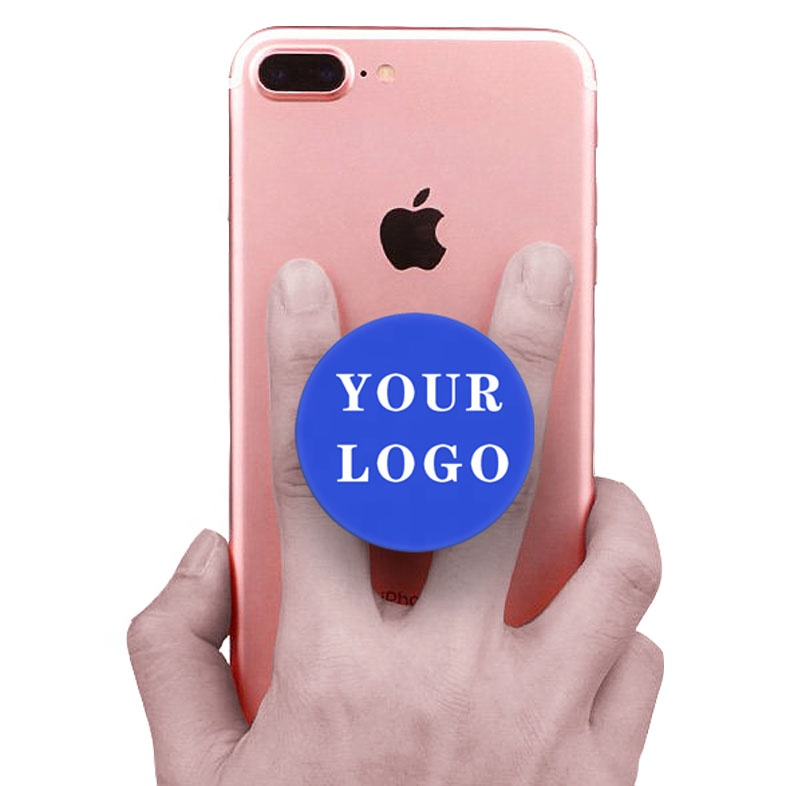 Factory Free Custom Cell Phone Holder Mobile Phones Accessories Ring Grip Stand Phone Sockets With Logo