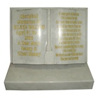 Modern designs white polished small headstone stone marble tombstones
