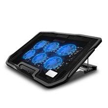 Игровой кулер для ноутбука SeenDa с шестью вентиляторами, охлаждающая подставка для ноутбука с двумя usb-портами, охлаждающая подставка для ноу...(Китай)
