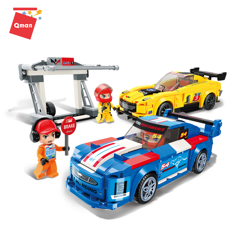 QMAN Limit Emergency Maintenance abs bricks educational <strong>toys</strong> kids <strong>toy</strong> Racing Car Model blocks diy educational <strong>toy</strong>