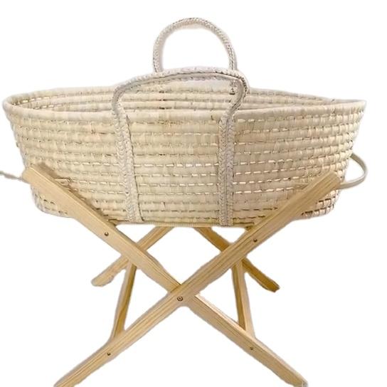 Handmade maize / corn husk Baby Moses Basket