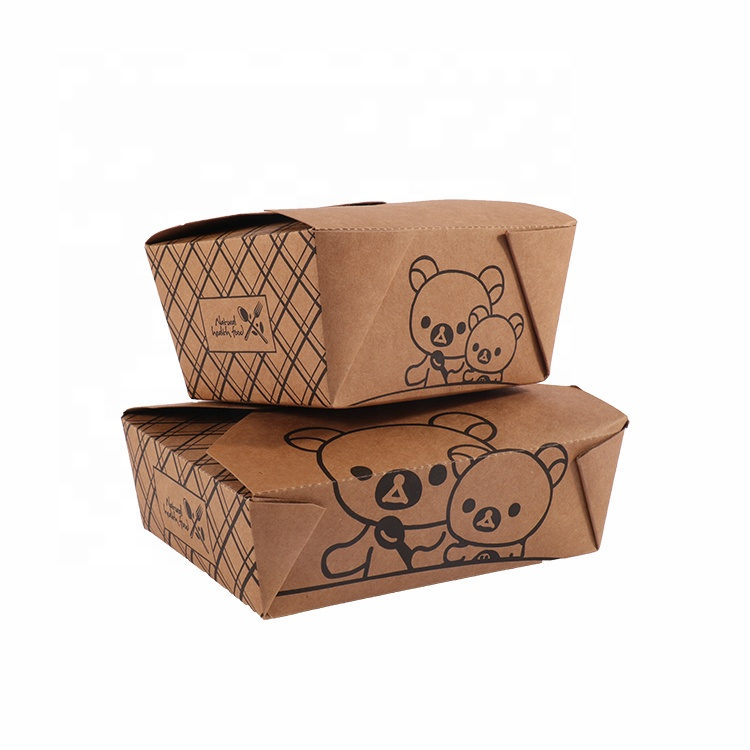 customized lunch paper box  for food package box kraft cake  box paper