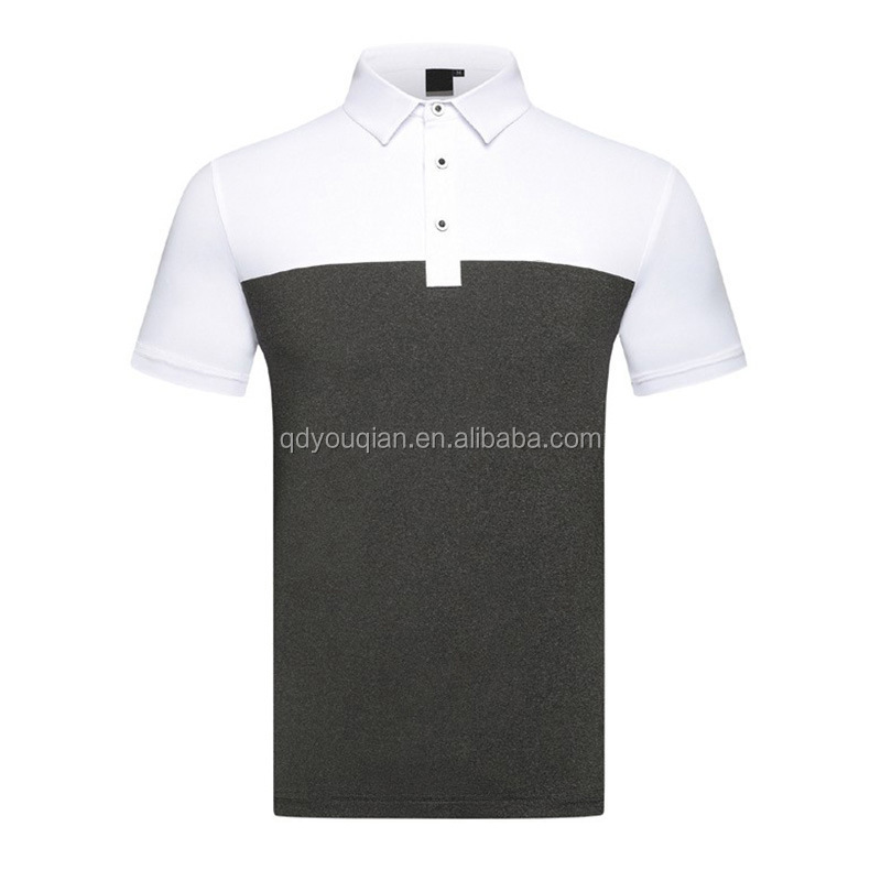 Rts Prestaties Mannen Golf Top Fashion Kleur Blok Ontwerp Korte Mouw Polo T-shirt