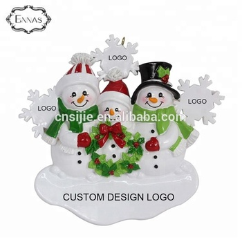 Custom christmas ornament decoration handmade polyresin christmas ornaments