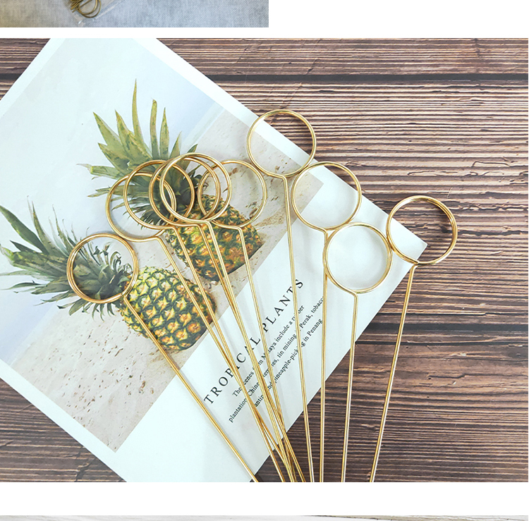 2020 metal holder bouquet card insert flower packaging