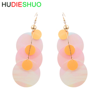 Wholesale transparent ring sequins Europe and America exaggerated bouncing earrings female Korean ear hook