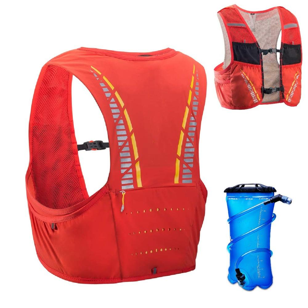 5L Hydration Vest for Hiking Cycling, Ultra Trail Race Vest Hydration Pack Backpack Marathon Running Vest Fits Men and Women