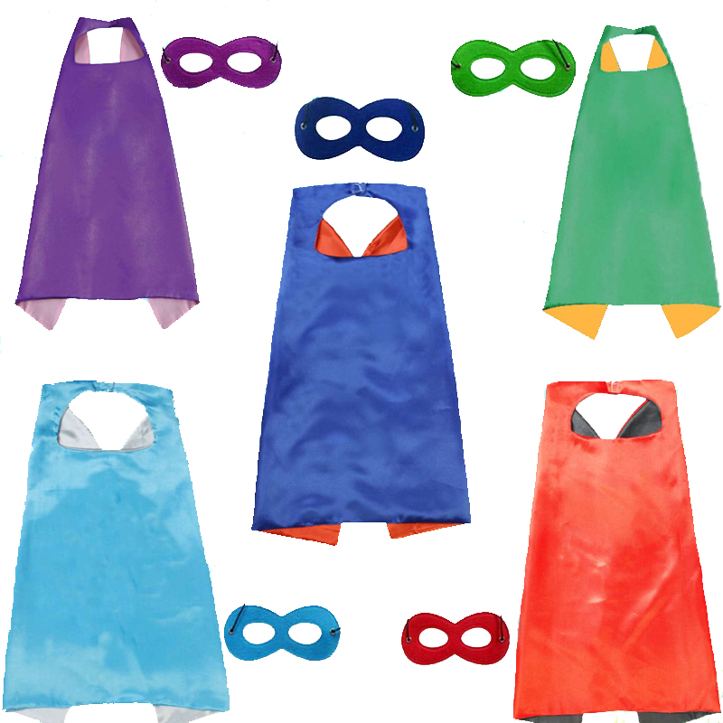 High Quality 27*27&quot; Double Layer <strong>capes</strong> and masks for <strong>kids</strong> <strong>superhero</strong>