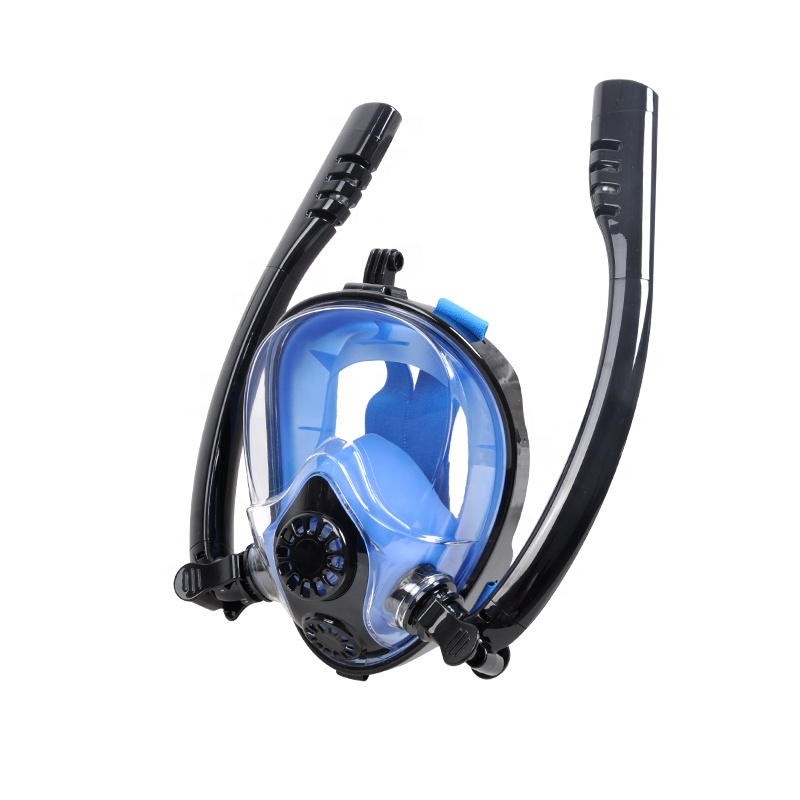 2019 New Design Full Face Snorkeling Mask With Double Tube 180 Degree View Anti-Fog Scuba Diving Mask.jpg