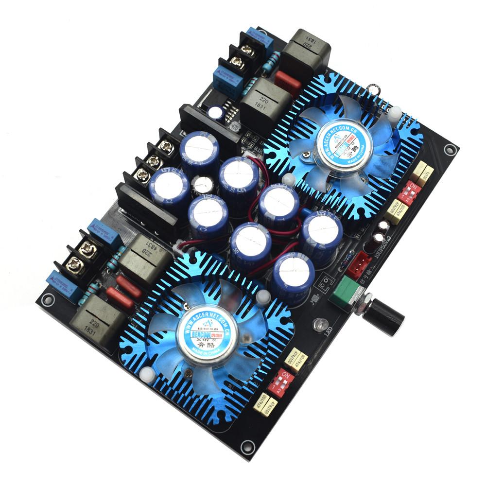 Dual-core TDA8954TH Digital audio Amplifier 420W+420W 2.0 stereo Power amplificador audio With fan AC24V