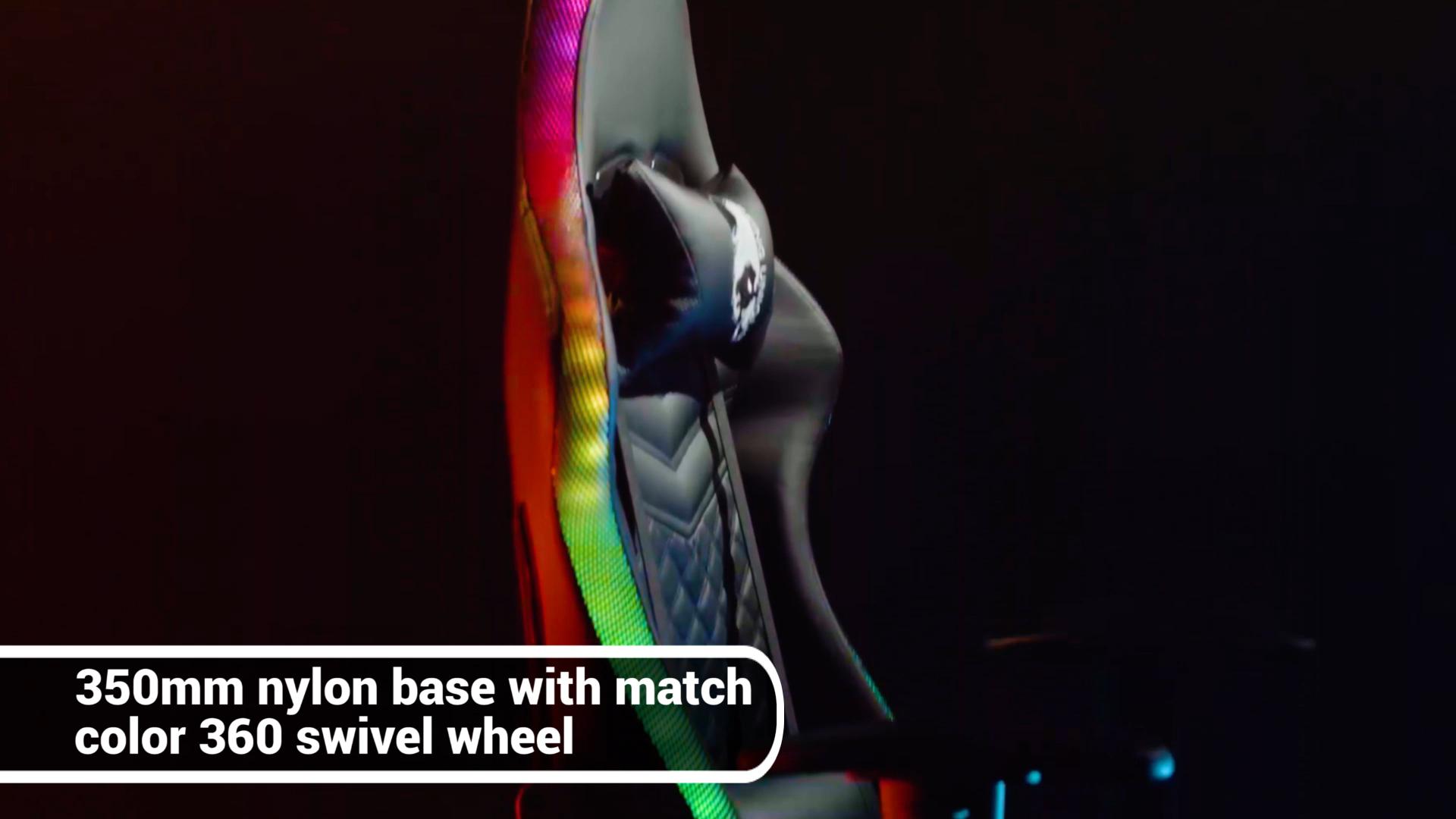 사용자 정의 자수 로고 조절 팔걸이 esports 레이싱 pc 게이머 LED 라이트 rgb 게임 의자