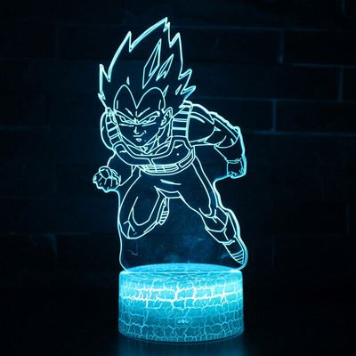 Dragon Ball Z Super Saiyan God Goku Action Figures 3D Table Lamp 7 <strong>Color</strong> Changing Night <strong>Light</strong> for Boys Kids Gifts 3d led night