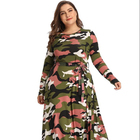 hot sell 2019 fashion clothing wholesale winter women latest patterns ladies camouflage dress