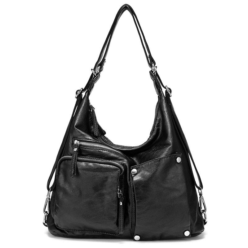 Женская сумка REALER , Большая сумка на плечо , Высококачественные женские бродилки , Винтажный рюкзак tes Многофункциональные женские сумки(Китай)