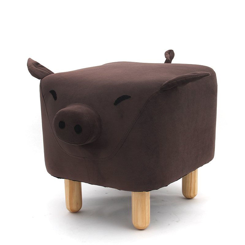 Design Home Kids Furniture  Wood Foots  Shape Animal Stool for kids
