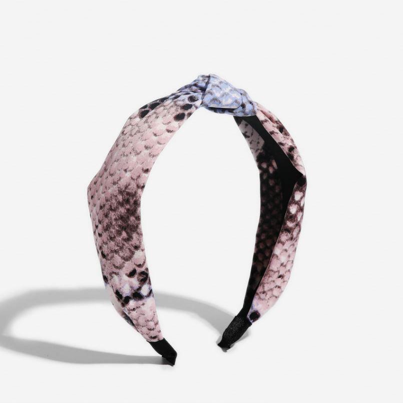 Clásico personalizado estampado de serpiente nudo pelo banda 2019 tendencia accesorios para el pelo para las mujeres