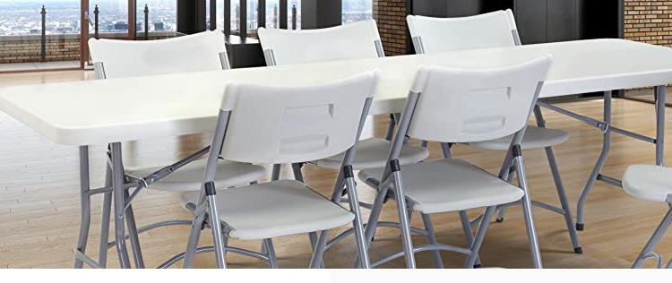 Kommerziellen 6FT Kunststoff Catering Tabelle für Veranstaltung Hochzeit Restaurant Falten Buffet Esstische