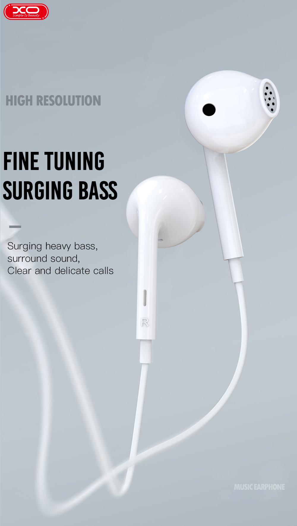 XO OEM Hot Selling EP28 Music Earphone  3.5MM Interface Wire Stereo In Ear Earphone