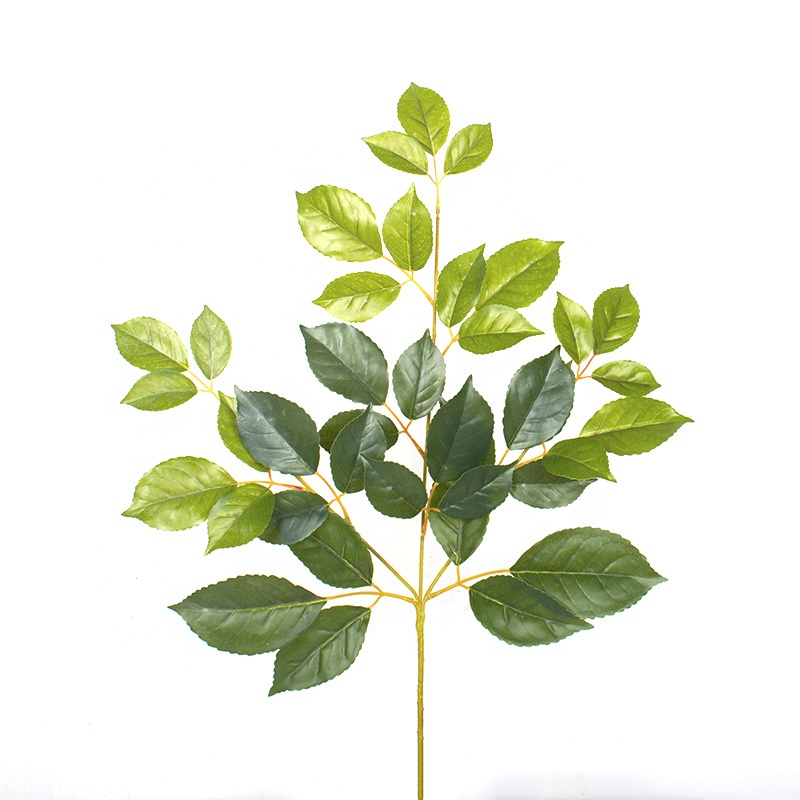 Good Quality Indoor Decorations ficus <strong>Leaves</strong> <strong>Green</strong> <strong>Artificial</strong> Silk banyan plastic <strong>Leaves</strong>
