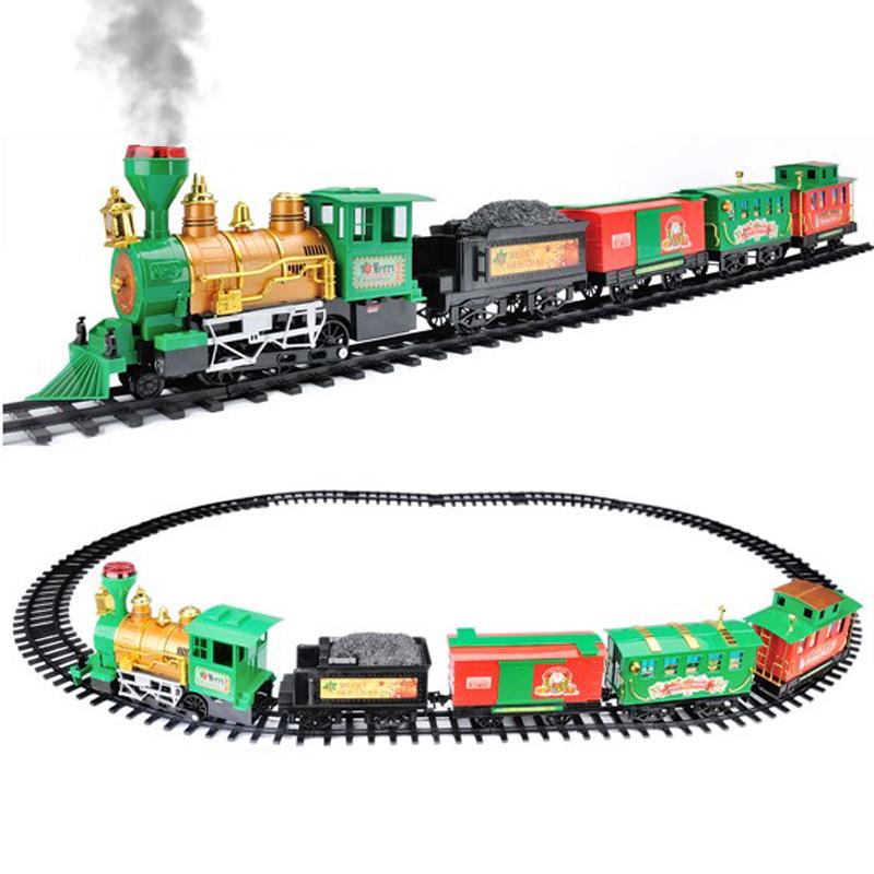 Rail King Intelligent Classique Fumée Train Set Enfants Jouet de Noël X-MAS Cadeau