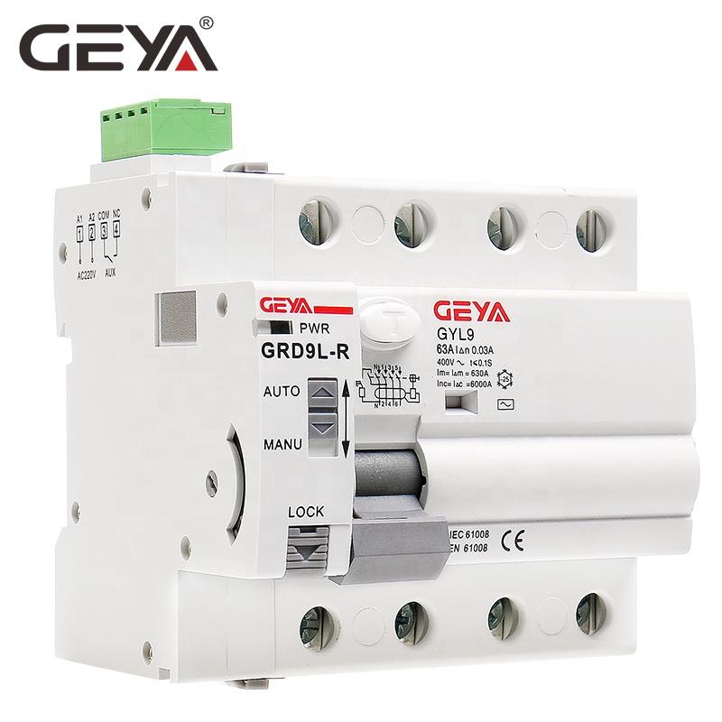 GEYA GRD9L Automatic RCCB Auto Reclosing ELCB Auto Recloser RCCB Residual Current Circuit Breaker MCB MCCB RCCB ELCB DC Reclosin