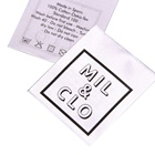 Eco-Friendly Label Clothing Eco-friendly Custom Screen Printing Brand Logo Fabric Soft Satin Label for Clothing