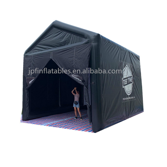 2019 inflatable air sealed golf simulator tent for sale, inflatable sports cage tent with projector/ air sealed theatre tent