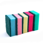 DH-A1-11 Eco friendly kitchen dish scrubber cleaning sponge with polyester scouring pad