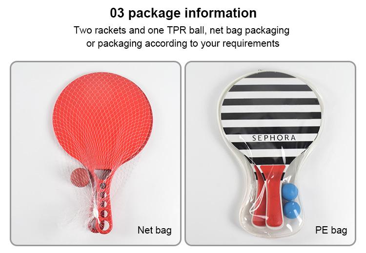 Professione beach racchetta logo di plastica spiaggia racchetta racchetta da tennis con la sfera
