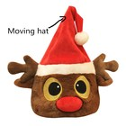 Peluches Christmas Toys Electric Moving Hat Santa Claus Elk and Penguin Hat Plush Toys