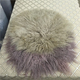 Mongolian Sheepskin Fur Cushion Pillow Cover Black