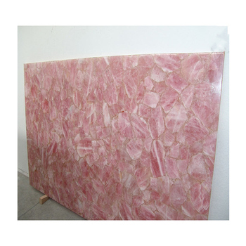 Solid Surface Pink Rose Quartz Stone Countertops Table Top